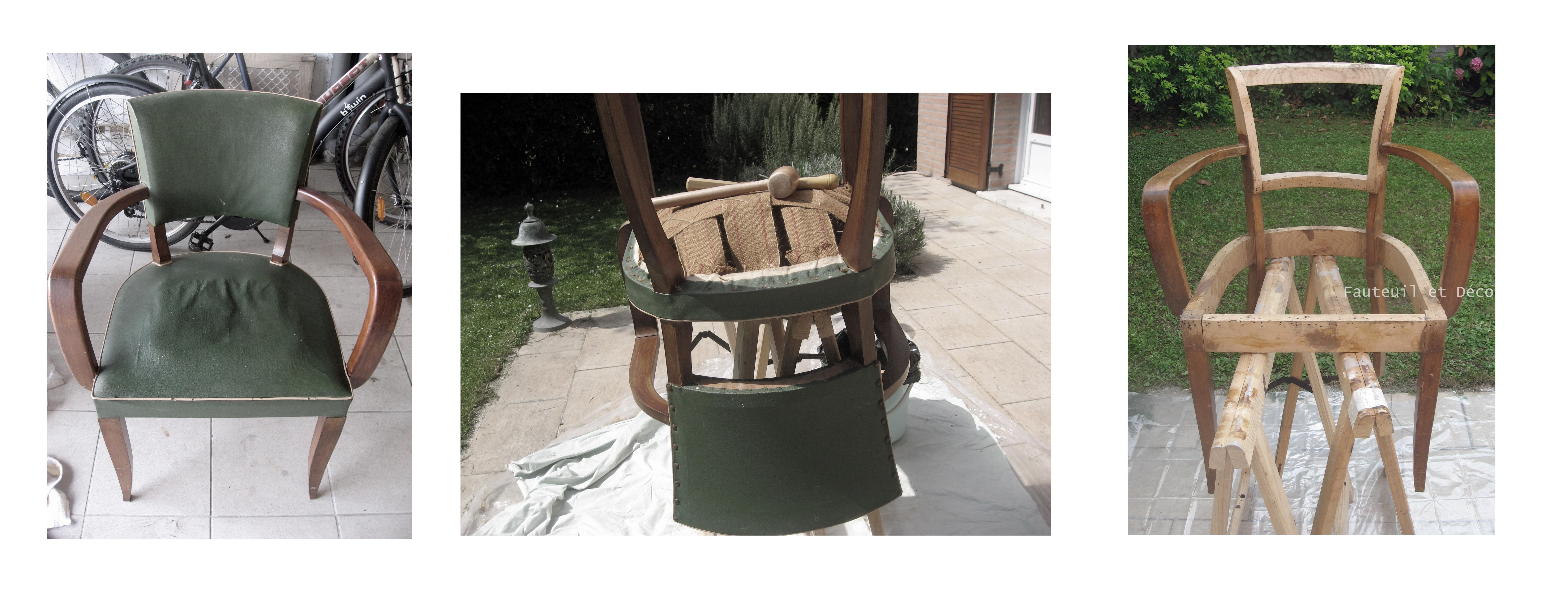 Le d garnissage fauteuil d co - Carcasse de fauteuil a restaurer ...