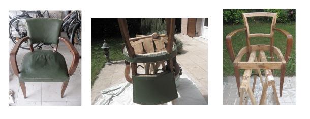 Dégarnissage fauteuil bridge