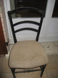 chaise Napoléon III en mauvais état