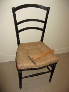 """Chaise Napoléon III """"en travaux"""""""
