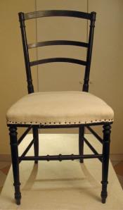 Chaise Napoléon III recouverte de toile blanche