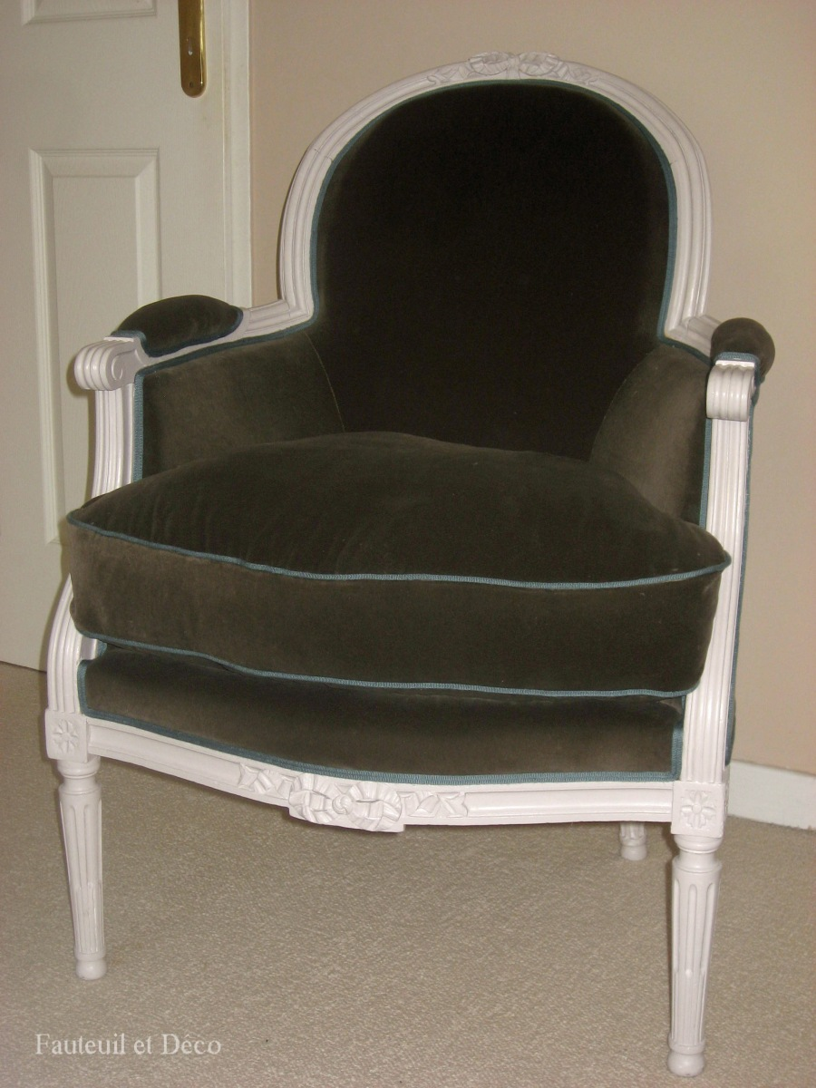 r fection d une berg re louis xvi avant apr s fauteuil d co. Black Bedroom Furniture Sets. Home Design Ideas