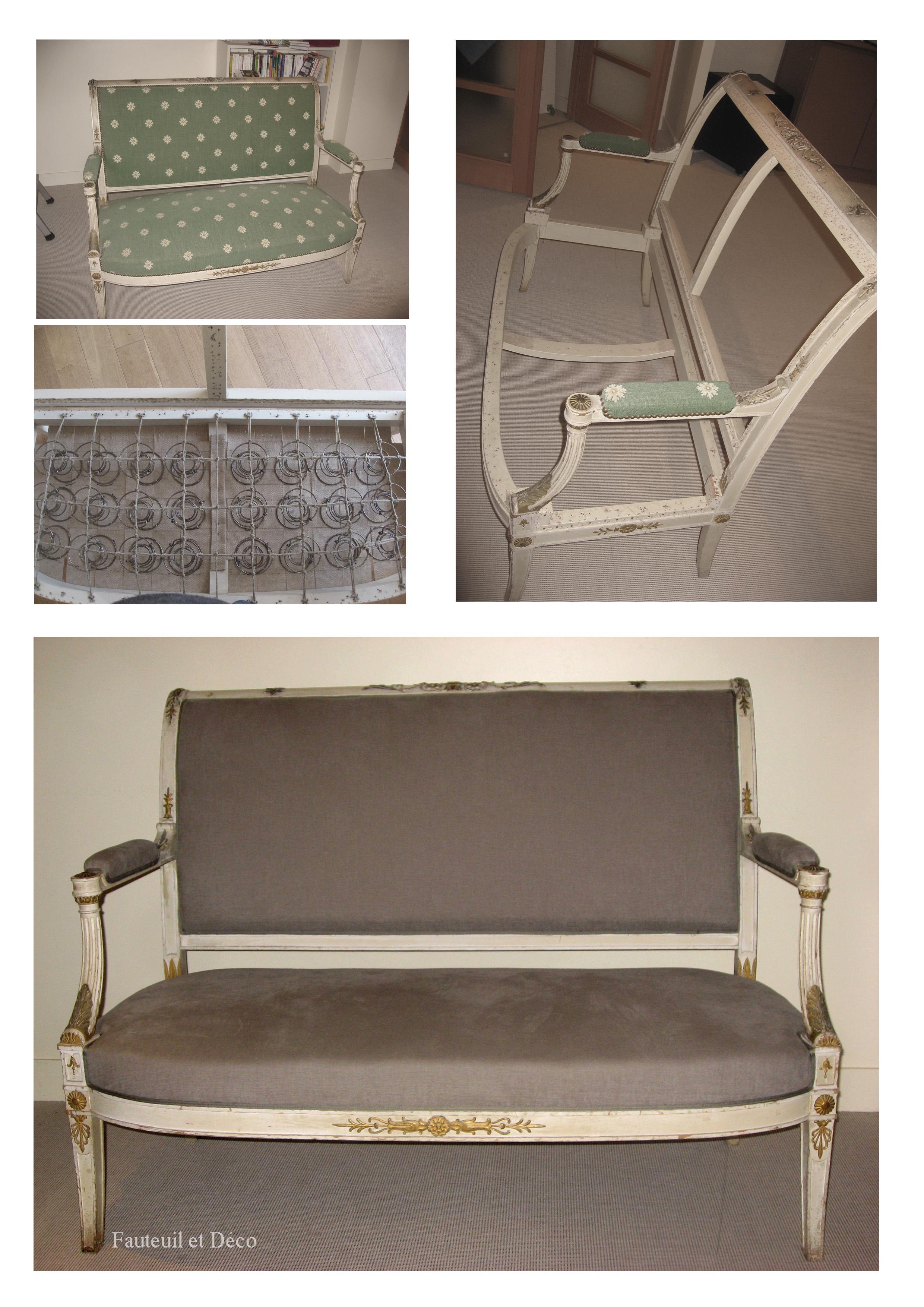 Fauteuils directoire fauteuil d co for Canape directoire