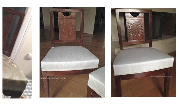 chaises avant après