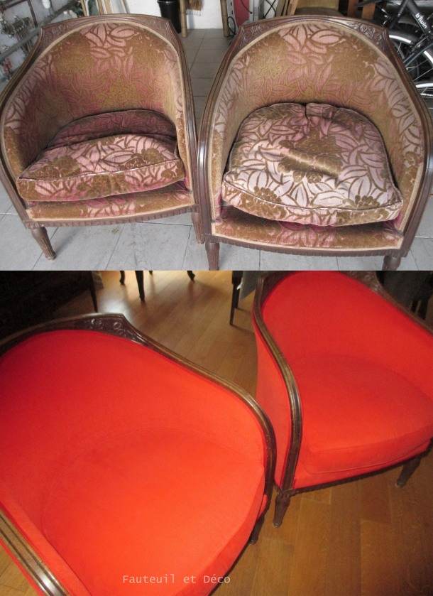 Réfection fauteuils Art Déco