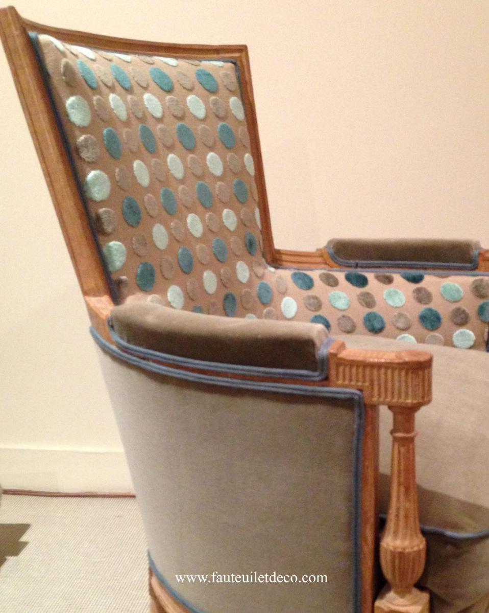 r fection d une berg re avant apr s fauteuil d co. Black Bedroom Furniture Sets. Home Design Ideas