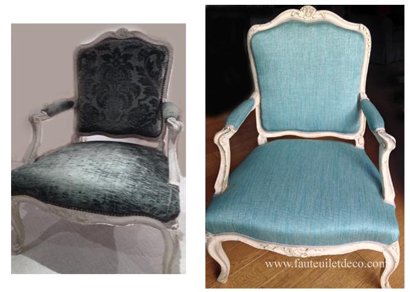 fauteuil régence avant après restauration