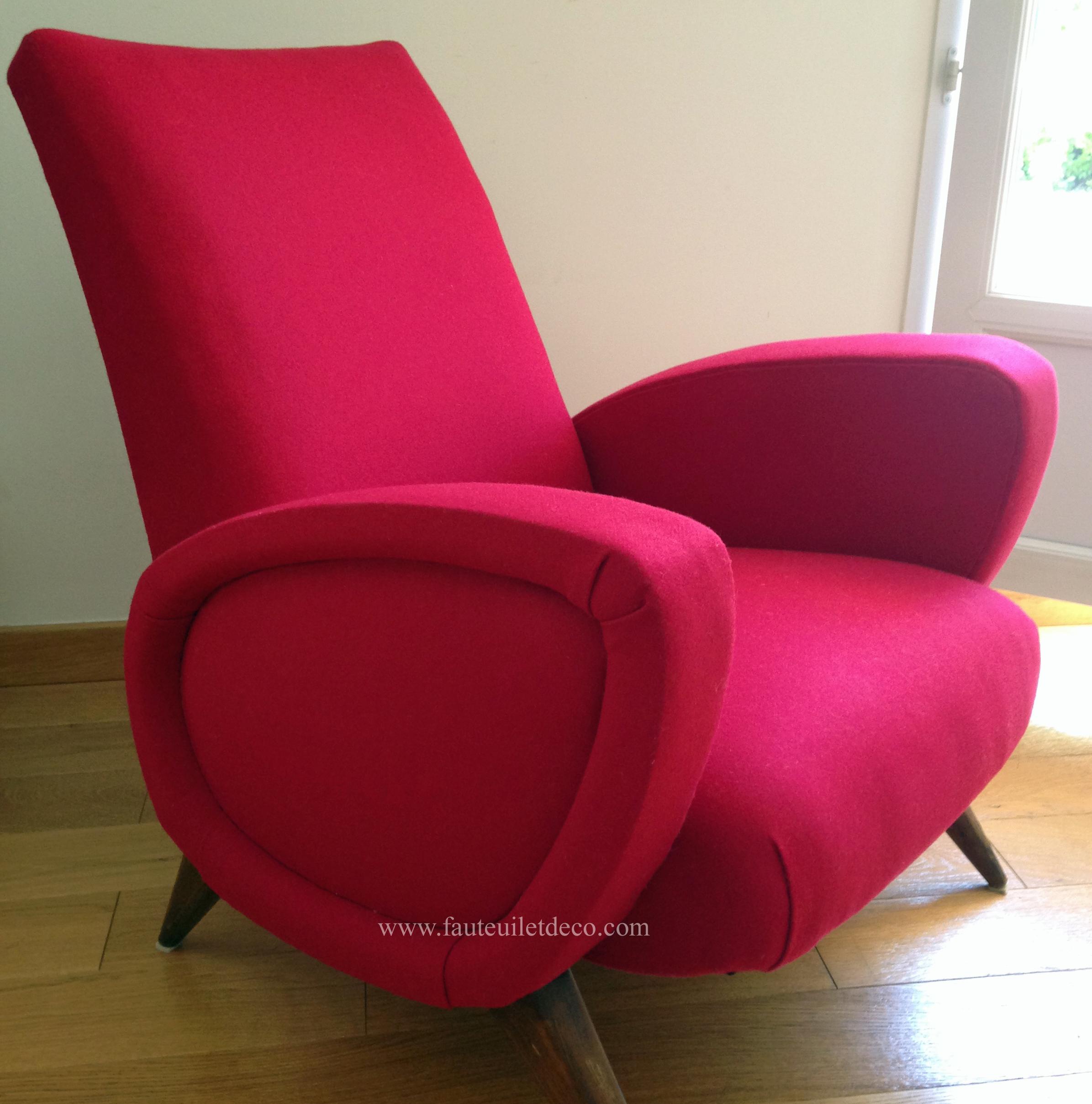 fauteuil vintage des ann e 50 avec pieds compas remise en tat compl te fauteuil d co. Black Bedroom Furniture Sets. Home Design Ideas