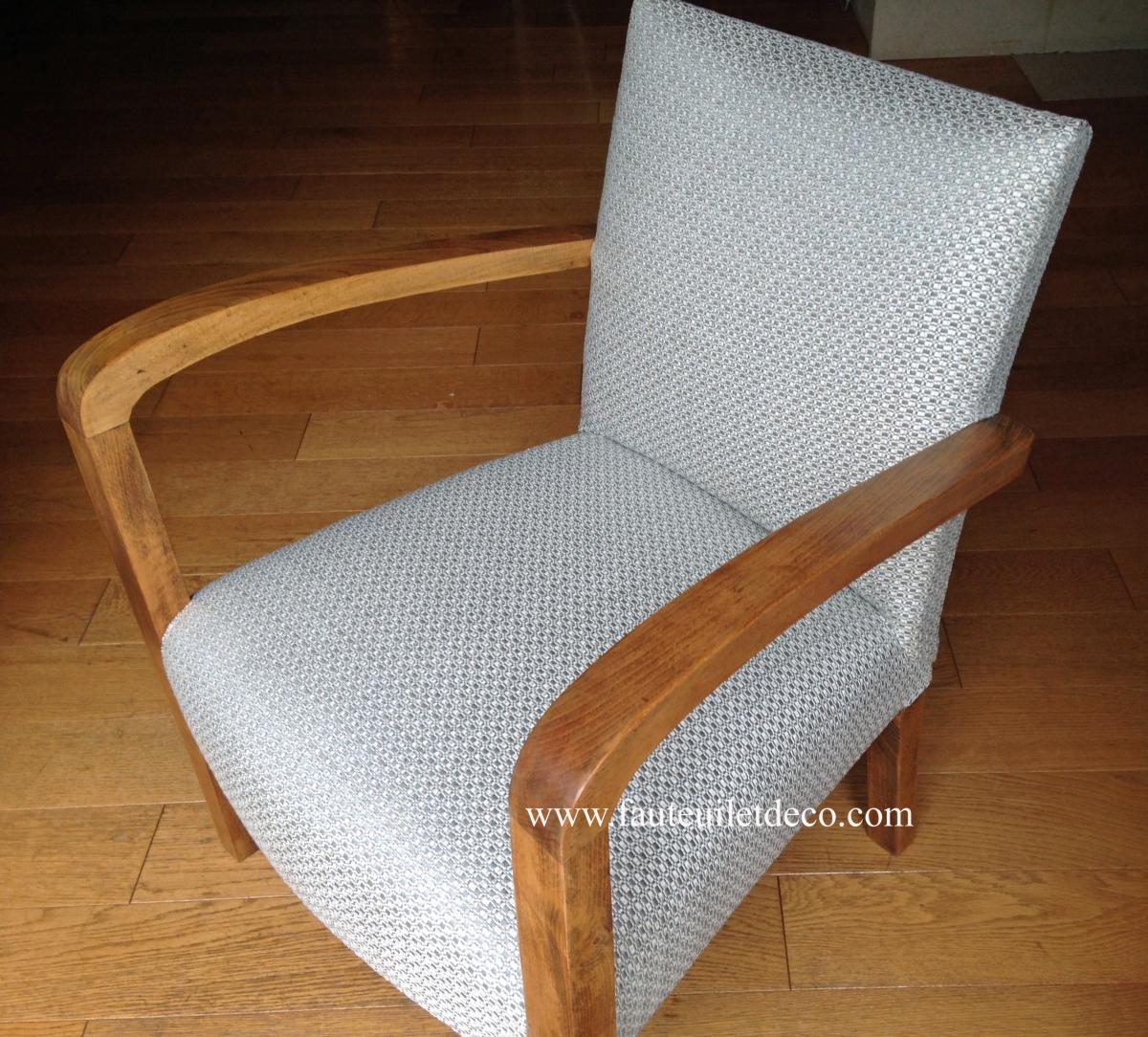 R fection compl te d un fauteuil bridge fauteuil d co - Retapisser un canape ...